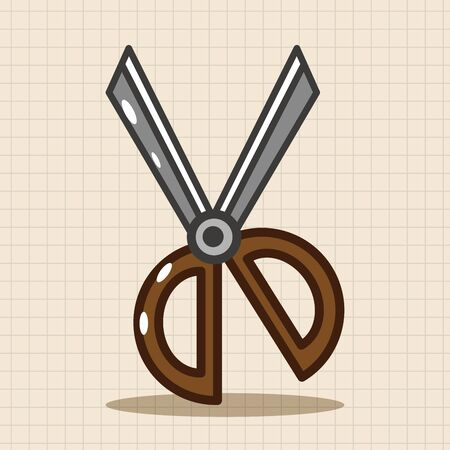 scissors icon: scissors theme elements