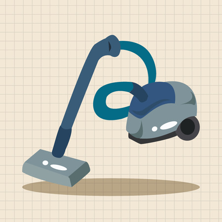 cleaner vacuuming symbol: Home appliances theme vacuum cleaner elements Illustration