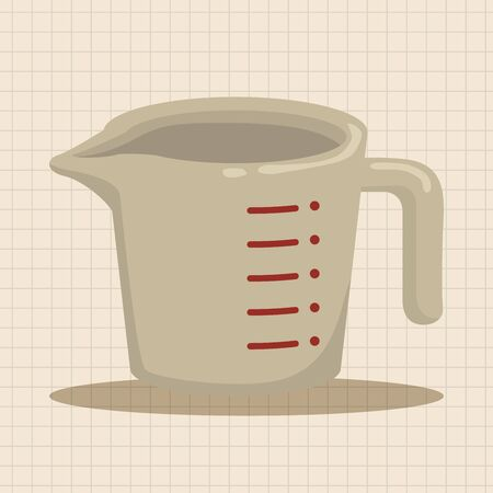 measuring cup: kitchenware measuring cup theme elements