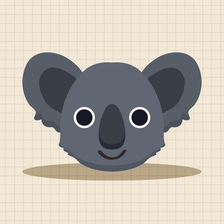 koala: animal koala cartoon theme elements