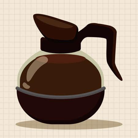 coffeepot: coffee kettle theme elements Illustration