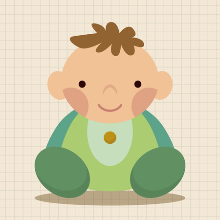 cute illustration: person character baby theme elements