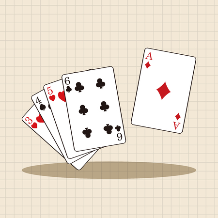 cards poker: casino poker card theme elements