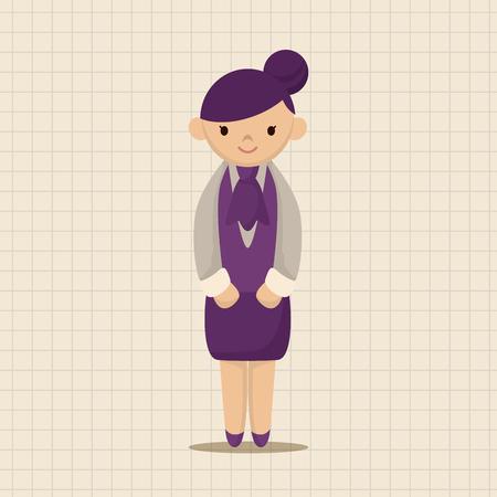 waiter: waiter theme elements vector,eps Illustration