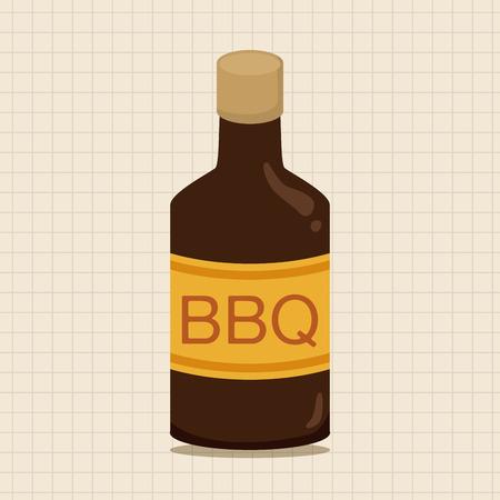 sauce: barbecue sauce equipment theme elements Illustration