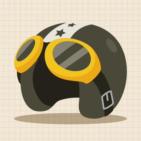flight helment theme elements Illustration