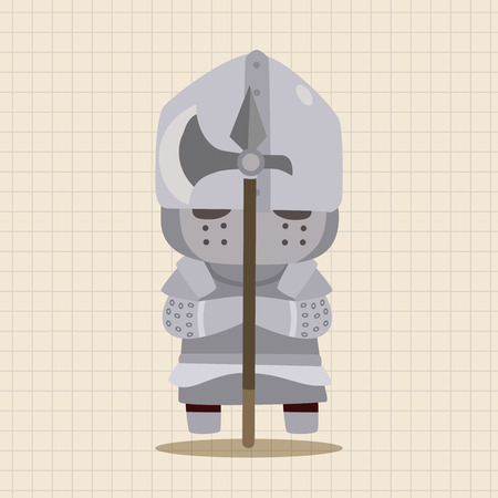 fable: Medieval character cartoon theme elements Illustration
