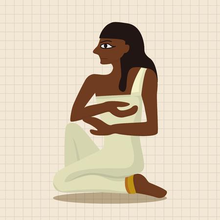 pharaoh: pharaoh theme elements vector,eps Illustration