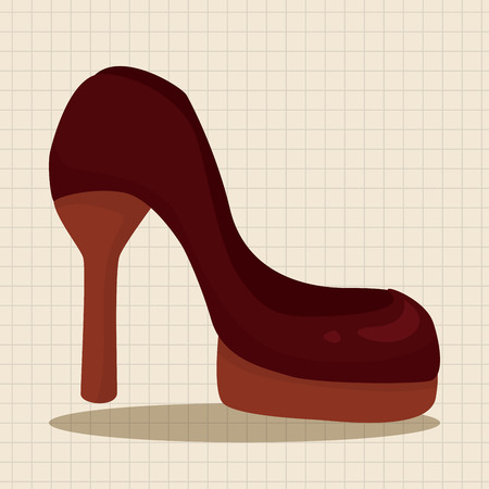 shoelaces: High-heeled shoes style theme elements vector,eps Illustration