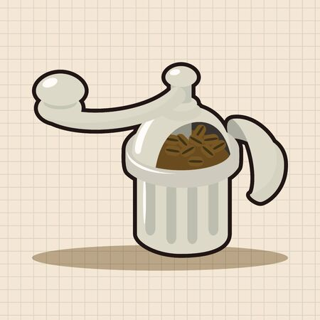 grinding: grinding coffee machine theme elements