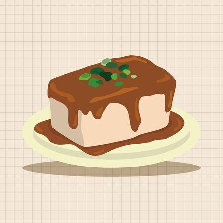 tofu: chinese food tofu theme elements