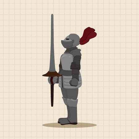 cavaliere medievale: cavaliere elementi a tema vettoriale, eps Vettoriali