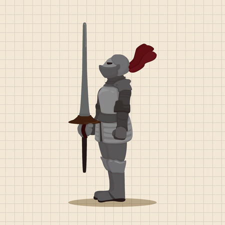 knight in armor: knight theme elements vector,eps