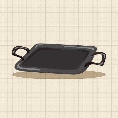 bakeware: barbecue bakeware equipment theme elements Illustration