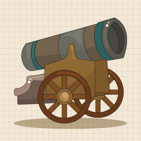 cannon ball: cannon theme elements vector,eps