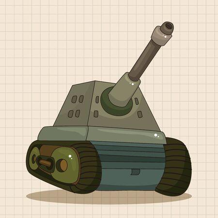 tanque de guerra: tank theme elements vector,eps