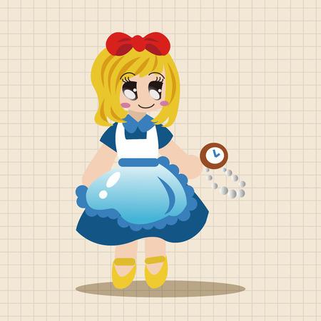 princess dress: fairytale princess theme elements Illustration
