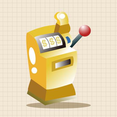 slot: casino slot machine theme elements Illustration