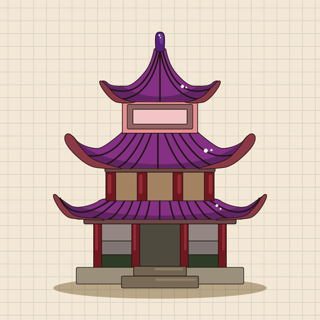 ancient architecture: Chinese building theme elements vector,eps Illustration