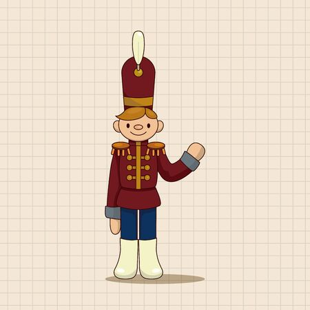 army men: Toy Soldiers theme elements vector,eps Illustration