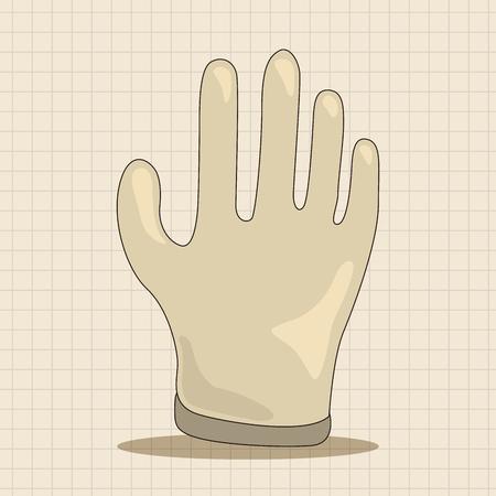 rubber glove: Medical gloves theme elements Illustration