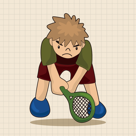 tennis player: tennis player theme elements vector,eps Illustration