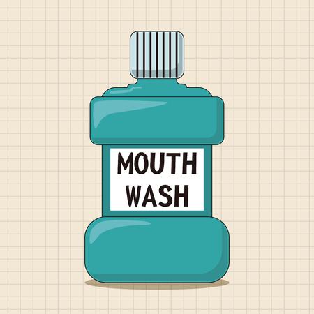 mouthwash: Elementos del tema de enjuague bucal