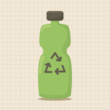 recycled water: Environmental protection concept theme elements; Recycled water bottle