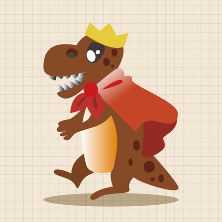 dinosaur cartoon: dinosaur cartoon theme elements vector,eps