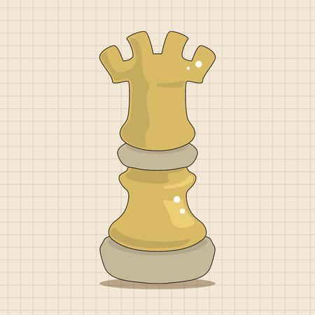 chess knight: chess theme elements