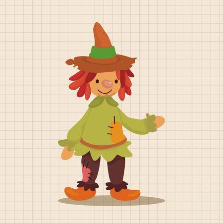 scarecrow: Scarecrow theme elements Illustration