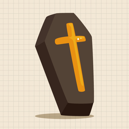 buried: coffin theme elements Illustration