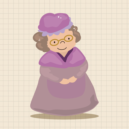 caperucita roja: grandmom en peque�os elementos tem�ticos caperucita roja Vectores