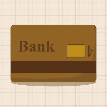 financial statement: credit card theme elements
