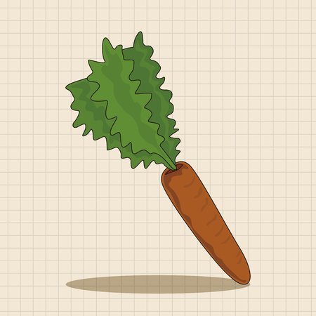 pineapple: vegetables and fruits theme elements Illustration