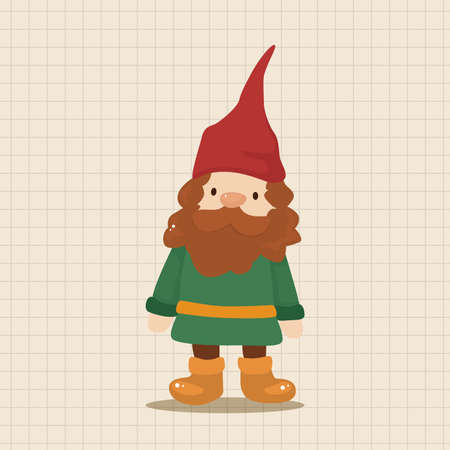 elf cartoon: elf theme elements