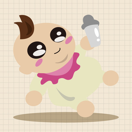 cute baby boy: person character baby theme elements