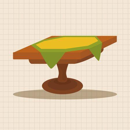 picnic tablecloth: table theme elements Illustration