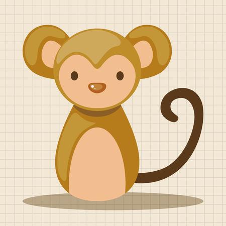 year of snake: Chinese Zodiac monkey theme elements Illustration