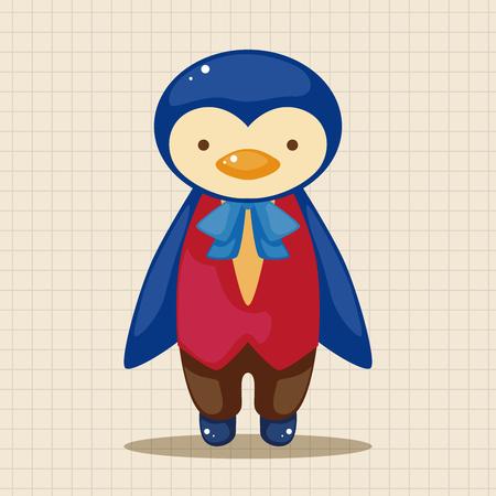 waiter: animal penguin waiter cartoon theme elements Illustration