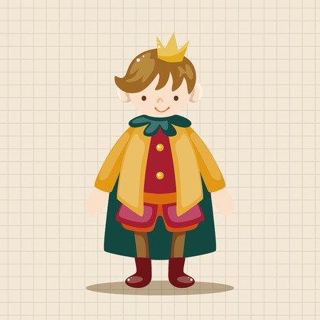 a charming: Royal theme prince elements Illustration