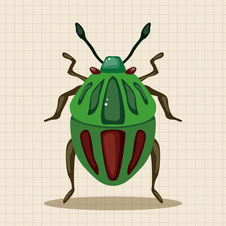 ladybug cartoon: elementos de dibujos animados insecto