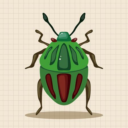 catarina caricatura: elementos de dibujos animados insecto