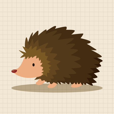 hedgehog: animal Hedgehog cartoon theme elements Illustration