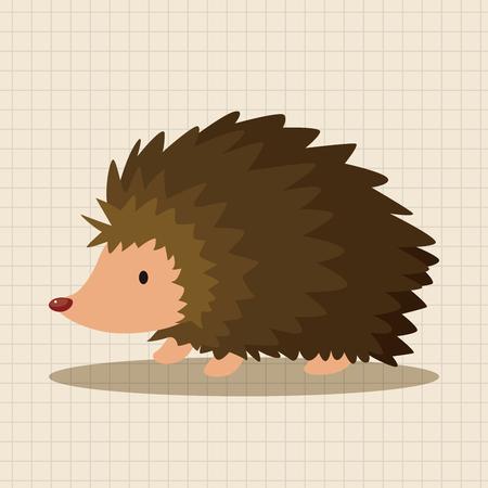 hedgehog: animal Hedgehog cartoon theme elements Illustration