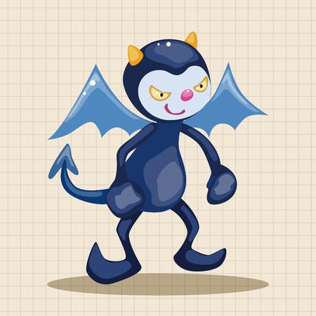 devil horns: devil theme elements