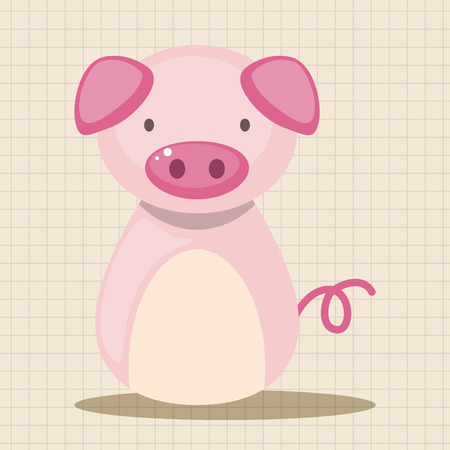 year of rat: Chinese Zodiac pig theme elements