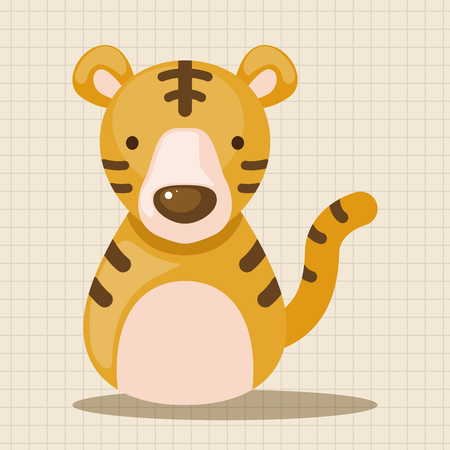 snake calendar: Chinese Zodiac tiger theme elements