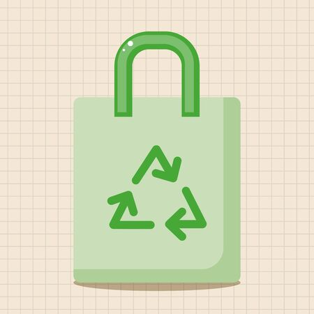 environmental protection: Environmental protection concept theme elements; Recycled shopping bag