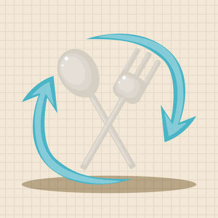 environmentally: Environmental protection concept theme elements; Using environmentally friendly tableware